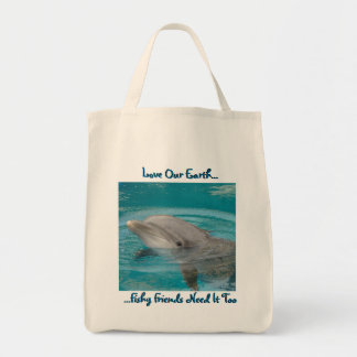 Dolphin Friend Tote Bags