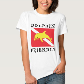 Dolphin Friendly Diver Down Flag Women T Shirt