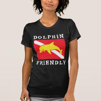 Dolphin Friendly Diver Down Flag Women Tshirt