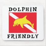 Dolphin Friendly Down Flag Mousepad