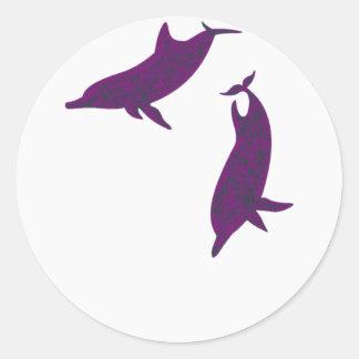 Dolphin Friends Classic Round Sticker