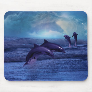 Dolphin fun and play mouse pad