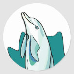 Dolphin Fun Classic Round Sticker