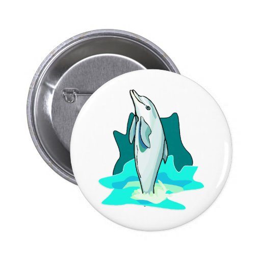 Dolphin Fun Pinback Button