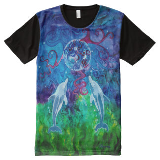 Dolphin Gaze All-Over Print Panel Shirt All-Over Print T-shirt