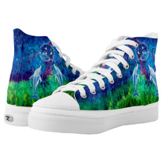 Dolphin Gaze Zipz High Top Shoes