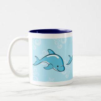 Dolphin Gifts Two-Tone Coffee Mug
