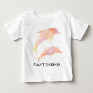 """Dolphin gradation """"Always together """" Baby T-Shirt"""