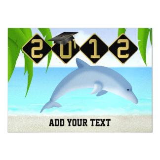 Dolphin Graduation - SRF 4.5x6.25 Paper Invitation Card