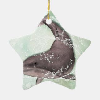 Dolphin Greeting Ceramic Ornament