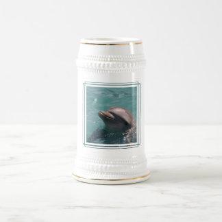 Dolphin Grinning  Beer Stein Coffee Mug