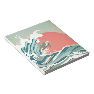 Dolphin happiness note pad
