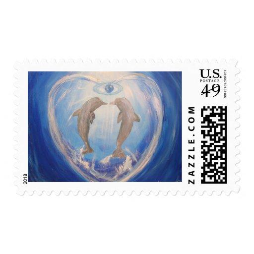 Dolphin Harmony Postage Stamps