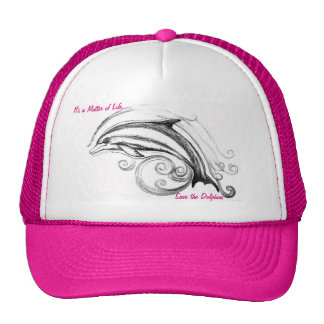 Dolphin Hat in Hot pink
