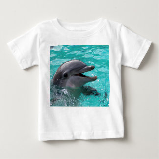 Dolphin head in aquamarine water baby T-Shirt