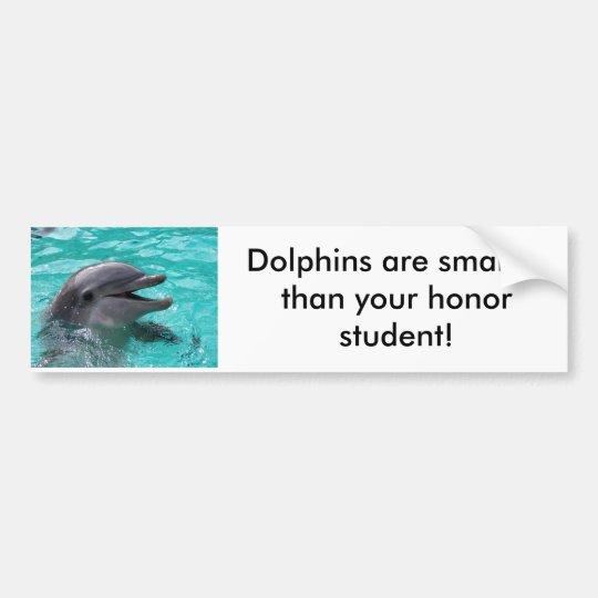 Dolphin head in aquamarine water bumper sticker
