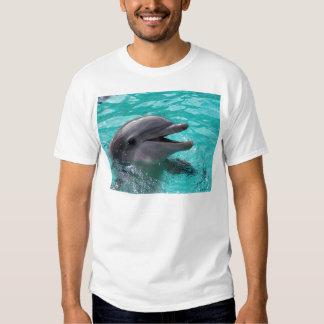 Dolphin head in aquamarine water tee shirt