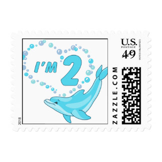 Dolphin Heart 2nd Birthday Stamps