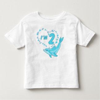 Dolphin Heart 2nd Birthday Shirt