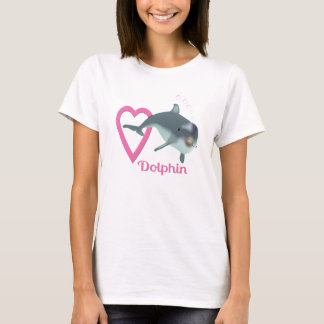 Dolphin Heart and Love T-Shirt