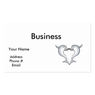 dolphin heart business card template