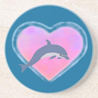 Dolphin Heart coaster