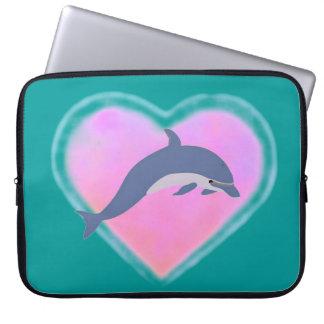 Dolphin Heart laptop sleeve