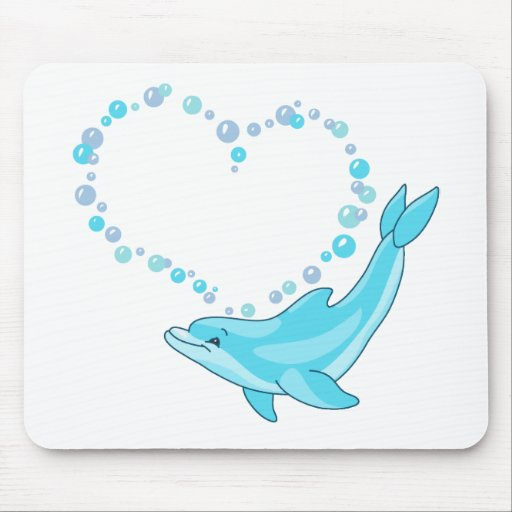 Dolphin Heart Mouse Pad