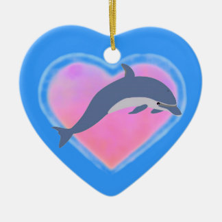 Dolphin Heart ornament