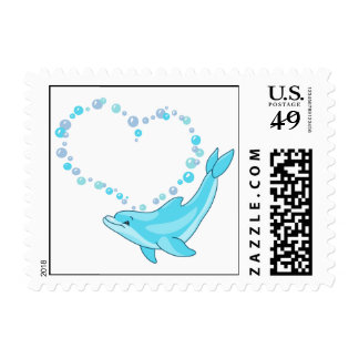 Dolphin Heart Stamps