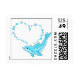 Dolphin Heart Stamp