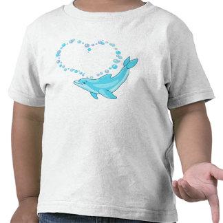 Dolphin Heart T Shirt