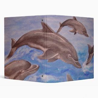 Dolphin High Five Vinyl Binders