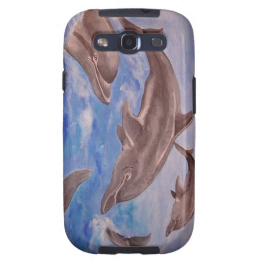 Dolphin High Five Samsung Galaxy SIII Cover