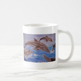 Dolphin High Five Coffee Mugs