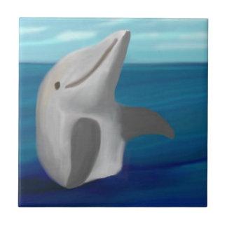 Dolphin Hug Ceramic Tile