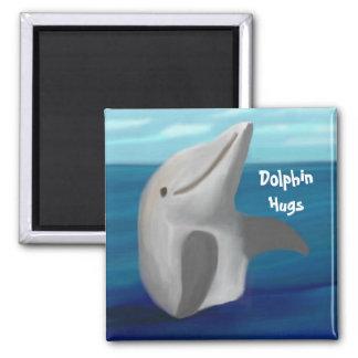 Dolphin Hugs Magnet