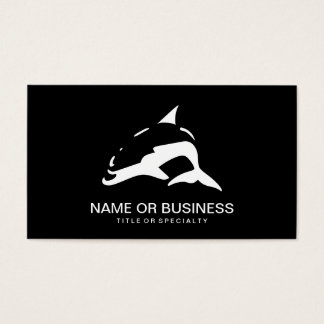 dolphin icon business card