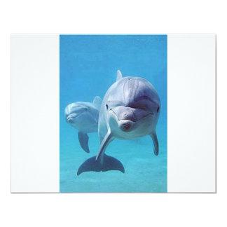 dolphin II 4.25x5.5 Paper Invitation Card