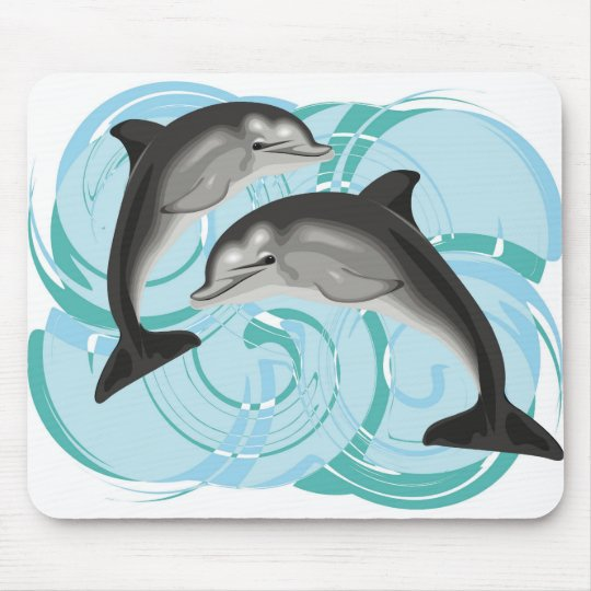 Dolphin illustration mouse pad
