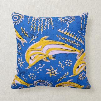 Dolphin image for Grade-A-Cotton-Throw-Pillow Throw Pillow
