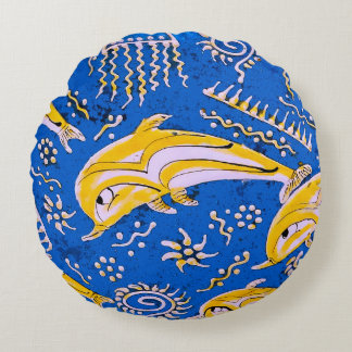 Dolphin image for Polyester-Round-Throw-Pillow Round Pillow