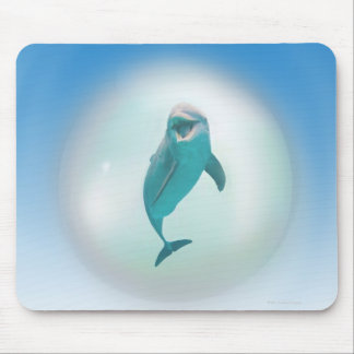 Dolphin in a Bubble Mouse Pad