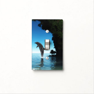 Dolphin in a hidden cave light switch cover