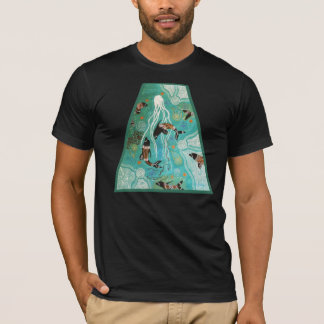 Dolphin In Blue T-Shirt