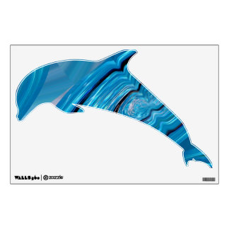 Dolphin in blue wall decal