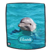 Dolphin in Blue Water Personalize Backpack