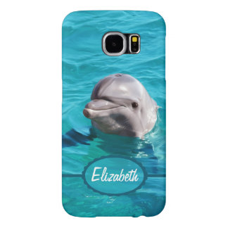 Dolphin in Blue Water Personalize Samsung Galaxy S6 Cases