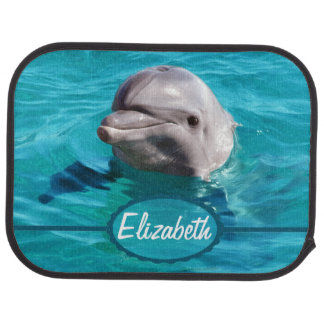 Dolphin in Blue Water Photo Car Floor Mat