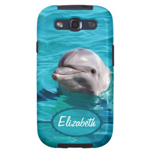 Dolphin in Blue Water Photo Samsung Galaxy S3 Covers